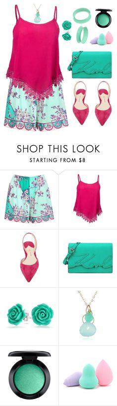 """""""Untitled #1814"""" by ebramos ❤ liked on Polyvore featuring Emilio Pucci, WithChic, Paul Andrew, Karl Lagerfeld, Bling Jewelry, Melissa Joy Manning, MAC Cosmetics and Forever 21"""