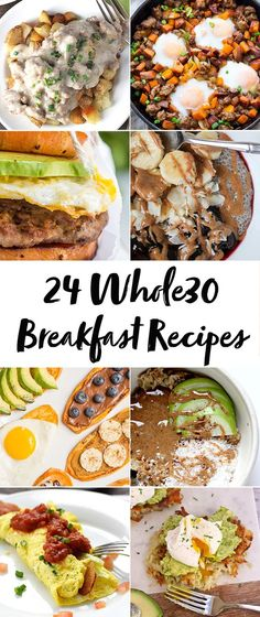 whole 30 recipes These breakfast recipes will have you antsy to start a round! With both savory and sweet breakfast recipes, theres definitely something for everyone here. Try some of my favorite breakfast recipes and let me know which is your favorite! Whole Foods, Whole 30 Diet, Paleo Whole 30, Whole 30 Vegetarian, Paleo Menu, Paleo Recipes Easy, Whole Food Recipes, Whole30 Recipes, Meal Recipes