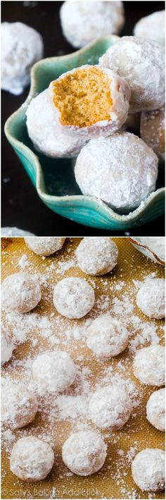Mini muffins that taste like powdered sugar donuts. They're baked, not fried! Kids LOVE them.