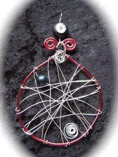 """Halssmycke """"Dreamcatcher"""" - Stort wirewrap halssmycke, längd..."""
