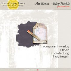 Art Room tiny kit freebie from Sugary Fancy Designs