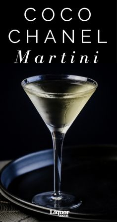 Coco Chanel Martini This two-ingredient take on the classic Martini is named for the fashion icon.This two-ingredient take on the classic Martini is named for the fashion icon. Cocktails To Try, Summer Cocktails, Cocktail Drinks, Cocktail Recipes, Alcoholic Drinks, Beverages, Lemonade Cocktail, Halloween Cocktails, Margarita Recipes