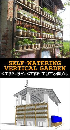 Learn how to build a self-watering vertical garden with recycled plastic bottles! See the step-by-step tutorial here...