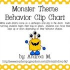 This behavior clip chart will make a colorful addition to your monster classroom theme!  Each full page section is 8.5X11 inches and can be taped t...
