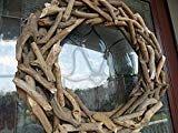 Driftwood Wreath-Natural Driftwood Wreath-Front Door Wreaths-Nautical Wreath-Coastal Wreath-Summer Wreaths for Front Door-Beach Wreath Driftwood Wreath, Driftwood Projects, Twig Wreath, Cork Wreath, Wreaths For Front Door, Door Wreaths, Front Porch, Fish Tank Terrarium, Coastal Wreath