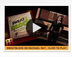 SweatBlock Featured on Rachael Ray.