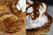 Tartelettes aux pommes nappées de caramel et de chantilly Caramel, Pancakes, Pie, Breakfast, Desserts, Food, Mini Apple Tarts, Fried Rice, Eten