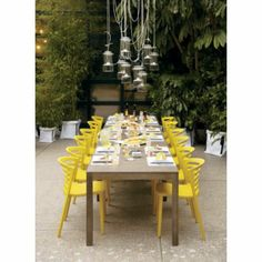 outdoor dinner party- love the chairs