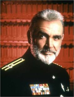 """Sean Connery as Remus in the """"Hunt for Red October"""", 1990."""