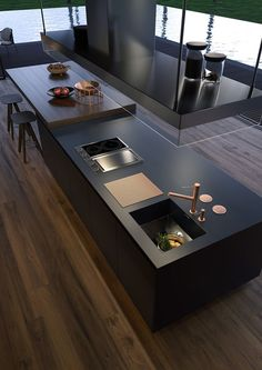 Smart Ideas to Kitchen Remodeling in Minimalist House Project Renovation . Find ideas for Kitchen with many of inspiring photos from design professionals. Home Decor Kitchen, Kitchen Interior, Home Kitchens, Kitchen Cabinets And Countertops, Kitchen Cabinets In Bathroom, Cuisines Diy, Minimal Kitchen, House Front Design, Kitchen Benches