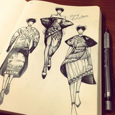 Mary!!  on the the Fashionary Red sketchbook ~