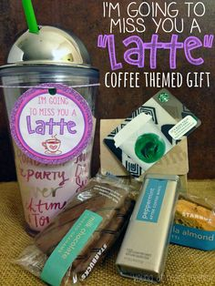 """I'm Going To Miss You A """"LATTE"""" Coffee Themed Gift + Printable"""