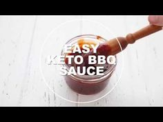 The best low carb sugar free BBQ sauce. No cooking required and it comes together in less than 5 minutes. You will want to slather this awesome sauce on everything. Sugar Free Bbq Sauce Recipe, Sugar Free Recipes, Healthy Low Carb Recipes, Keto Recipes, Cooking Recipes, Keto Foods, Dinner Recipes, Keto Sauces, Low Carb Sauces