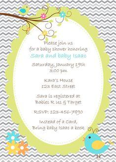 Little Birdie Baby Shower Invitation on Etsy, $12.00