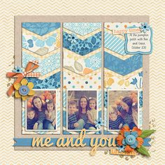 #papercraft #scrapbook #layout. Family Ties by Zoe Pearn DJB Fonts: Bailey (Euro) by Darcy Baldwin {fontography}