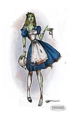 Alice in Zombieland by LaTaupinette.deviantart.com