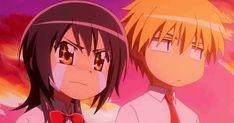 "This chibi is based off the anime ""Kaichou wa Maid-sama!"" This anime chibi gif is of Takumi Usui and Misaki Ayuzawa."