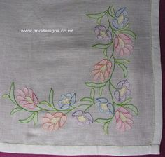 JMD Designs Home - Janet M. Davies - New Zealand - Miscellaneous Needlework - Needlework, Quilting and Applique -- Shadowwork embroidery Hand Embroidery Dress, Embroidery Works, Hand Embroidery Stitches, Silk Ribbon Embroidery, Hand Embroidery Designs, Vintage Embroidery, Embroidery Patterns Free, Embroidery Applique, Machine Embroidery