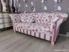 Pohovky, gauče, lenošky | (685) FLORENTINA - Bavlněná pohovka | Designový nabytek