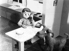 Davey and Goliath Sally | Davey takes an important call while Goliath listens…