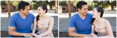 gorgeous side braid for engagement session