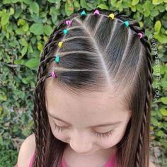 Kids Curly Hairstyles, Cute Little Girl Hairstyles, Cute Girls Hairstyles, Girl Hair Dos, Crazy Hair Days, Hair Due, Hair Styles, Hair Stenciling, Hair Ideas