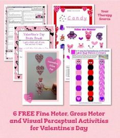 Seasonal Freebie of the Week: 6 Free Printables for Valentine's Day  - pinned by @PediaStaff – Please Visit  ht.ly/63sNt for all our pediatric therapy pins