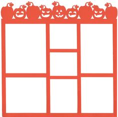 Halloween layout to make on the #Cricut, Great for a Speedy Frame or a Scrapbook Page ! : )