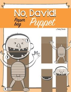 No David! Paper bag Puppet ***Complete your David Shannon collection:*** Favorite Authors - Activities BUNDLE Have fun with this easy and fun craft activity! No David, Kindergarten Freebies, Kindergarten Classroom, Paper Bag Puppets, Readers Theater, Author Studies, Math Resources, Reading Resources, Craft Activities