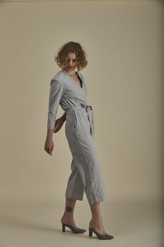 Bowline Jumpsuit Butler, Chambray, Organic Cotton, Upcycle, Trousers, Jumpsuit, Denim, Winter, Sleeves