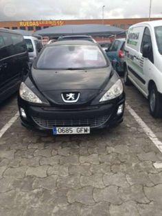 Peugeot 308 sw negro 1.600cc, 110cv, direccion asistida, cierre centralizado, elevalunas electrico,aire acondicionado, itv en vigor, precio transferencia incluida