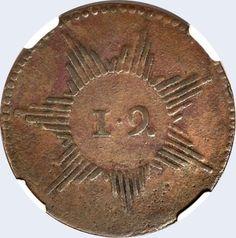 Pieza mpc0.25r-ba01v2 (Anverso). Moneda de la Provincia de Caracas. 1/4 Real. Diseño B, Tipo A. Fecha 1812. Variante #2