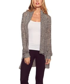 A heathered texture gives this cardigan an extra dose of personality, while its ultra-cozy fabric blend promises warm and comfortable layering. Size note: This item runs small.