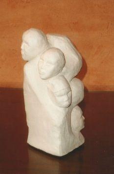 sculpture modelage créé à partir de croquis préparatoire d'anatomie fait à Poissy