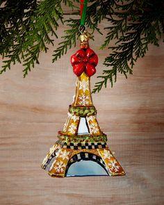MacKenzie-Childs Eiffel Tower Christmas Ornament $98