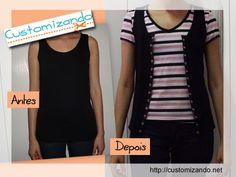 Camiseta regata que virou colete  See this DIY here: http://customizando.net/transformando-camiseta-regata-em-colete/