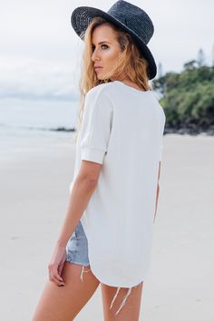 Henley Sweater | SABO SKIRT