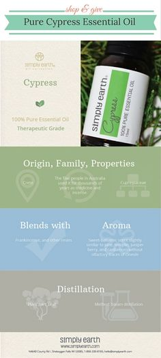 Enjoy this Cypress Essential Oil from Simply Earth. It is the same high quality as the expensive guys without the high price tag. And know that 13% of the profits go to help end human trafficking... Treat yourself while giving back :) http://www.amazon.com/dp/B01783QMXA/