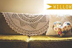 Willow | lace doily blanket crochet pattern by Lisa Gutierrez