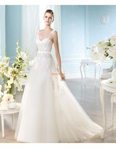 A-line Spring Sleeveless Wedding Dresses 2014