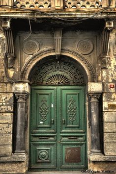 The Green Ottoman Door..Beyazit, Istanbul,Turkey