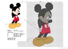 Mickey Mouse timido patron punto de cruz Disney