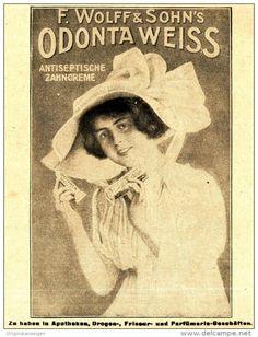 Original-Werbung/ Anzeige 1920 - ODONTA WEISS ZAHNCREME / WOLFF & SOHN…