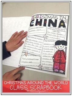 Christmas Around the World Class Scrapbook