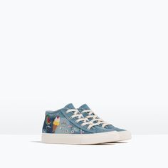 PATCH HIGH-TOP SNEAKERS