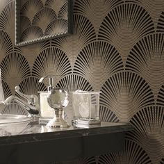 S Ann Sachs Tile Wall Is Ermanno X Pavone Porcelain In Gold On White Lana Nguyen Backflash