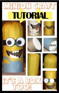 Minion Craft DIY with upcycled Oatmeal Can or tp rolls Diy Crafts For Kids, Easy Crafts, Valentine Box, Valentine Stuff, Minion Craft, Girl Minion, Minion Party, Educational Crafts, Holidays With Kids