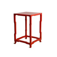 """Schumacher - Alexander Table in red 15.5""""W x 15.5""""D x 24""""H #colorfurniture"""