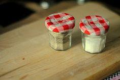 a pretty cool life.: DIY: tiny jam jar salt & pepper shakers