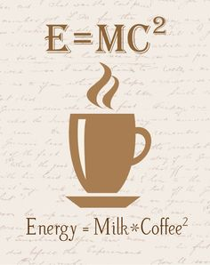 This poster features a mathematical wordplay on what a great cup of coffee is made of. Coffee Cafe, Coffee Humor, Coffee Quotes, Coffee Drinks, Coffee Is Life, I Love Coffee, Coffee Break, My Coffee Shop, Coffee Girl